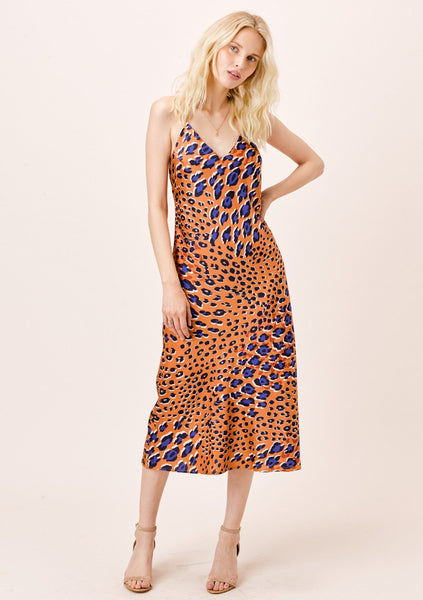 Rya Bias Cut Midi Dress