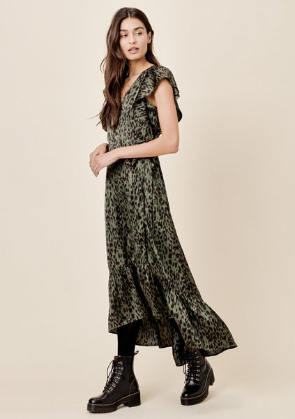 Harper Leopard Wrap Dress