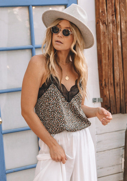 Oren Animal Print Lace Cami