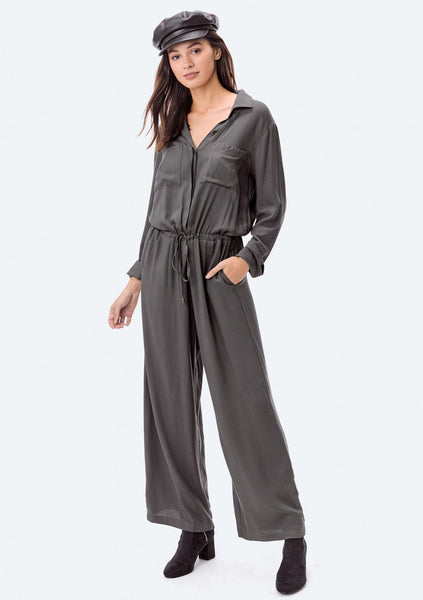 Pippa Long Sleeve Utility Jumpsuit