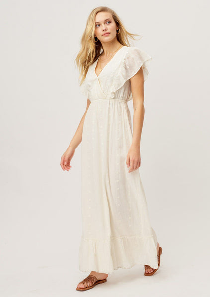 In the Flowers Embroidered Maxi Dress