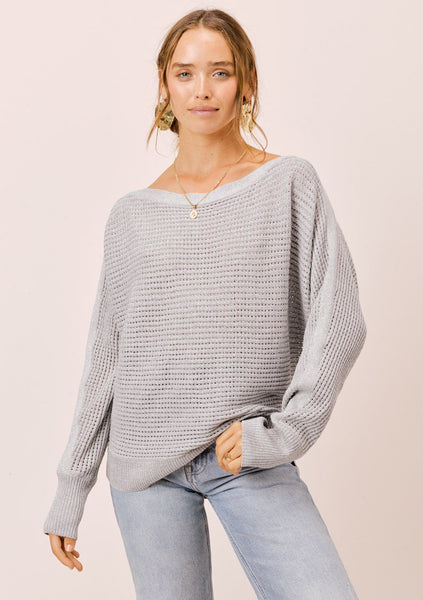 Juliet Metallic Boatneck Sweater