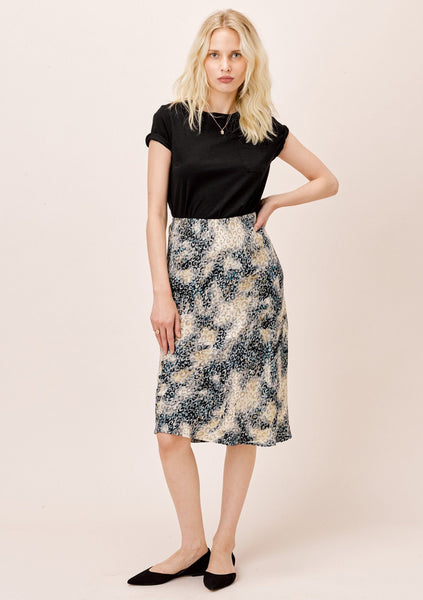 Bea Watercolor Midi Skirt