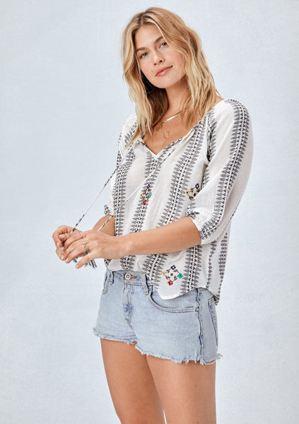 Rio Embroidered Top