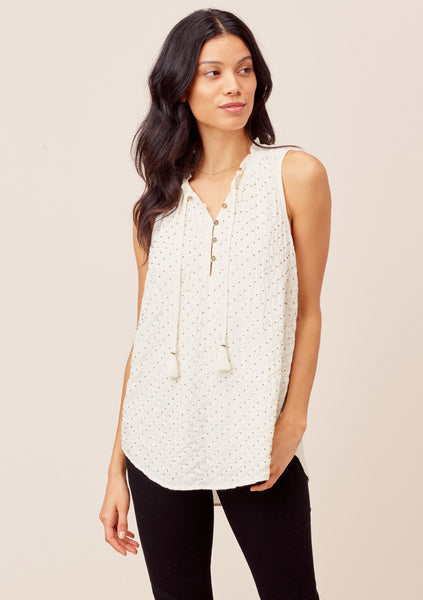 Daphne Sleeveless Beaded Top