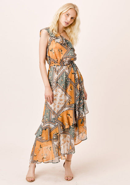 Araceli One Shoulder Maxi Dress