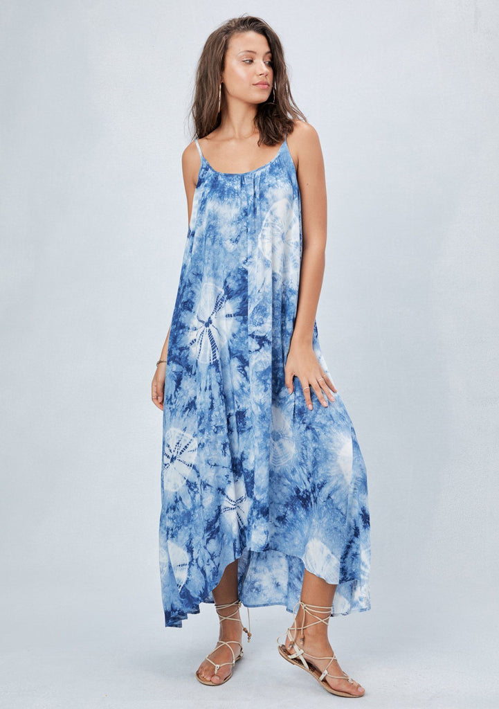 Bohemian One Size Tie Dye Maxi Dress Lovestitch One Size Maxi