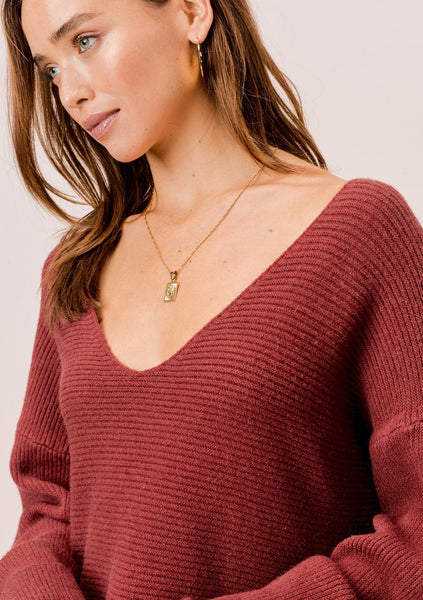 Amaris Slouchy Ribbed Sweater