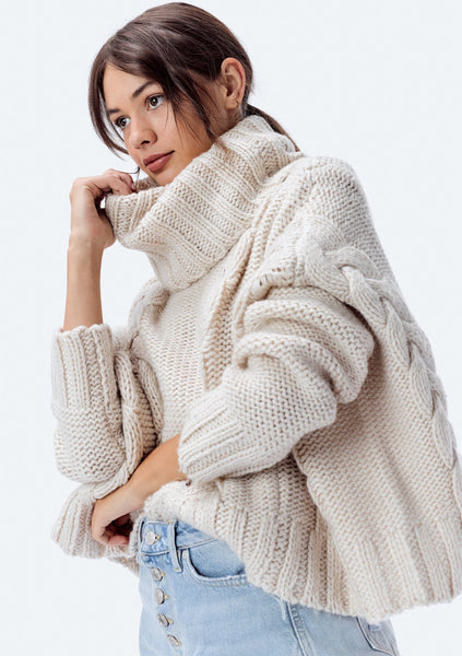 James Cable Knit Sweater