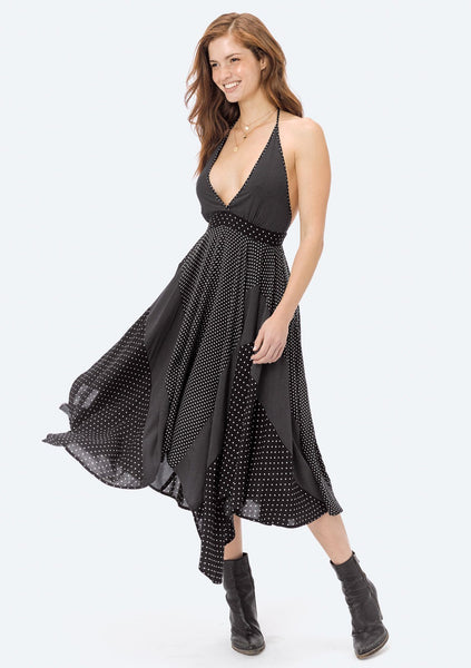 Dafina Polka Dot Patchwork Dress