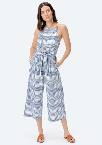 Aleda Striped Tie Front Jumpsuit