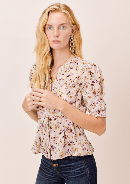 Darcy Floral Pleated Top