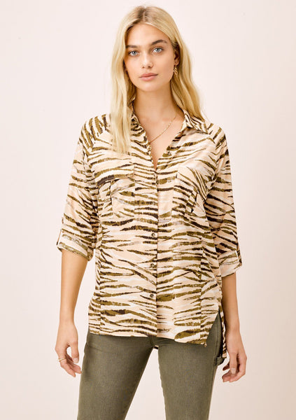 Lynn Animal Print Buttondown