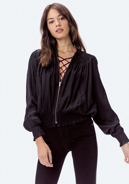 Briar Satin Embroidered Bomber