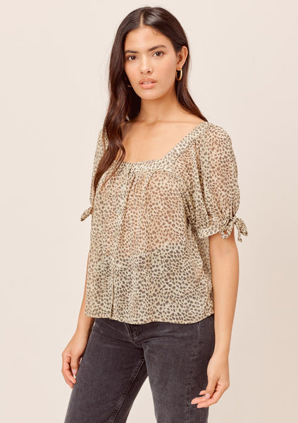Peta Square Neck Chiffon Top