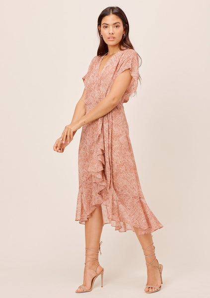 Blythe Chiffon Wrap Dress