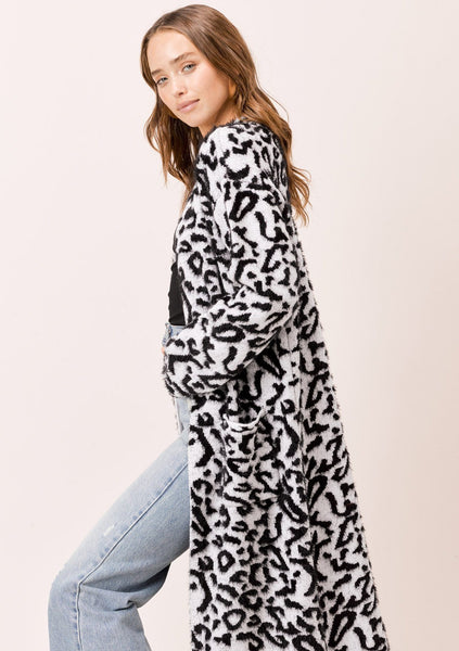 India Snow Leopard Cardigan