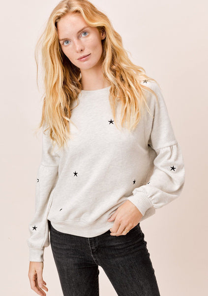 Cosmos Star Embroidered Sweatshirt
