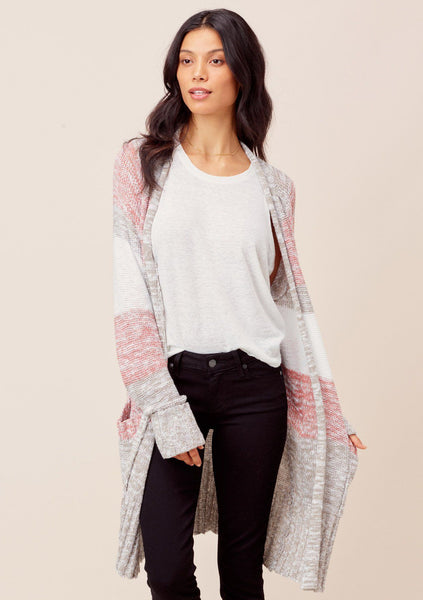 Edie Striped Knit Cardigan
