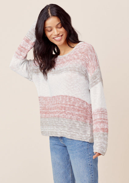 Kathryn Striped Knit Pullover