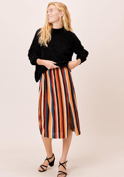 Zuri Pleated Midi Skirt