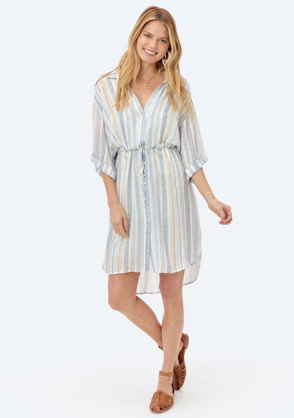 Keaton Striped Shirt Dress