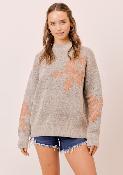 Molly Floral Jacquard Sweater