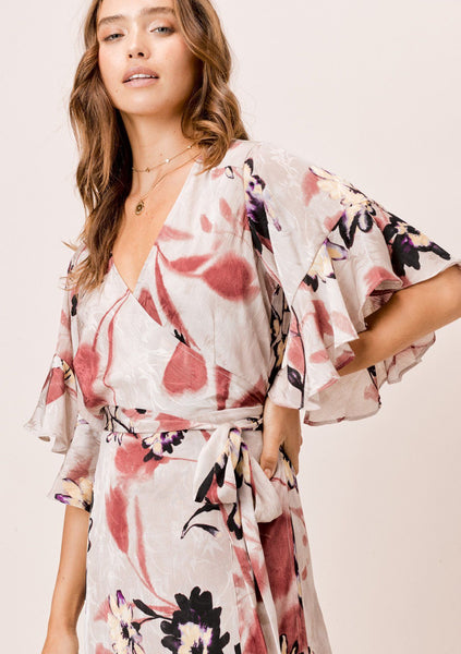 Avery Floral Wrap Dress