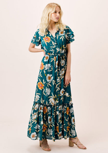 Mara Floral Button Front Dress
