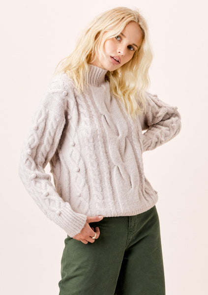 Serena Mock Neck Sweater