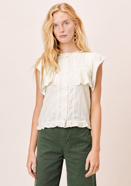 Erin Textured Cotton Top