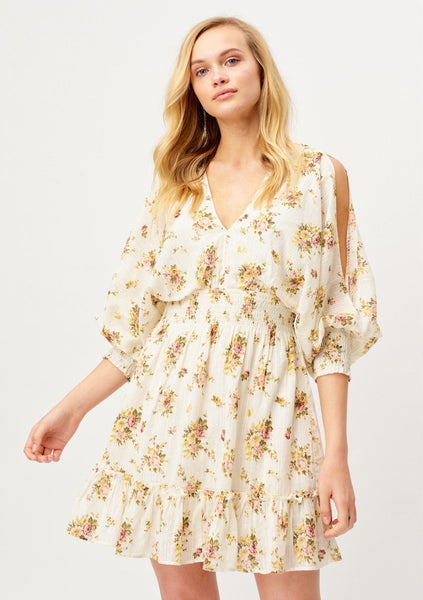 Vintage Inspired Bohemian Floral Mini Dress