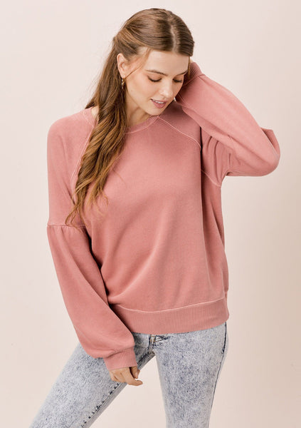 Piper Volume Sleeve Sweatshirt