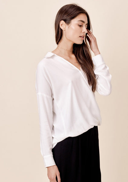 Wallis Surplice Collared Top