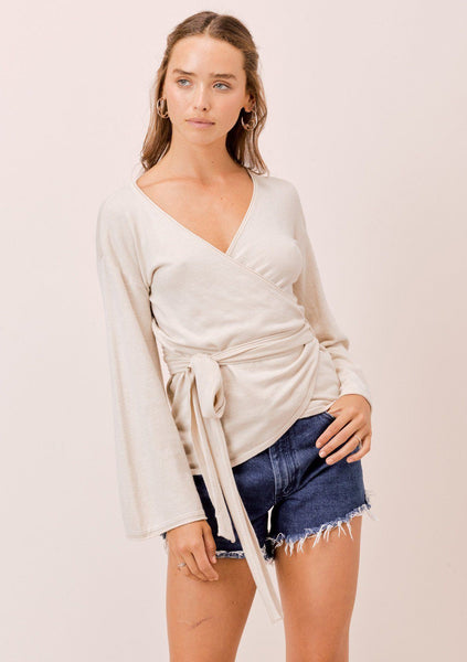 Angie Knit Wrap Top