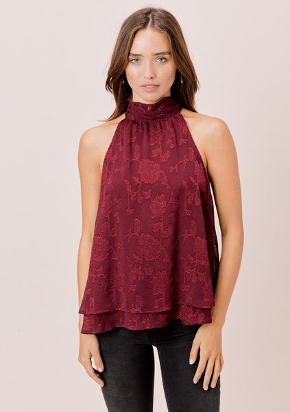 Marion Jacquard Sleeveless Top