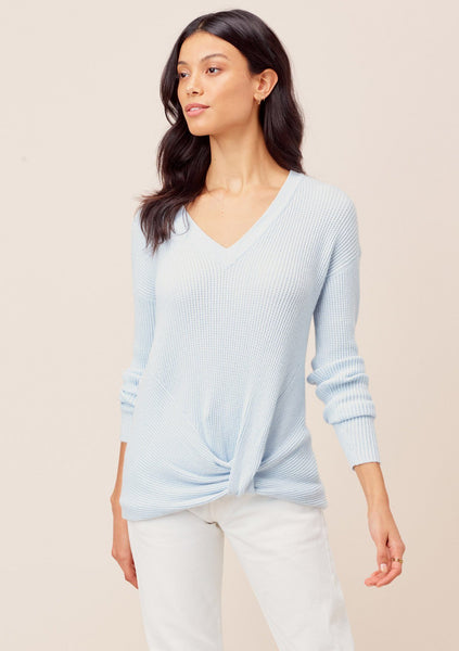 Carrie Knot Front V-Neck Pullover