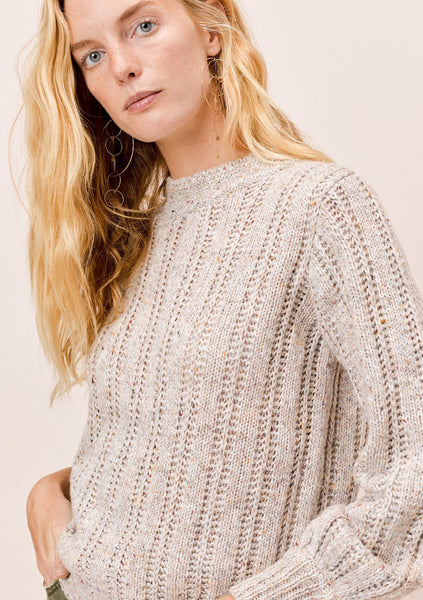 Mariah Volume Sleeve Sweater