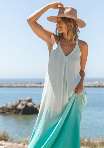 Walk On The Beach Ombre Maxi Dress