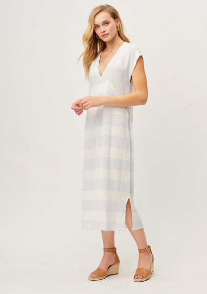 Your Next Tropical Vacation Striped Beach Dress