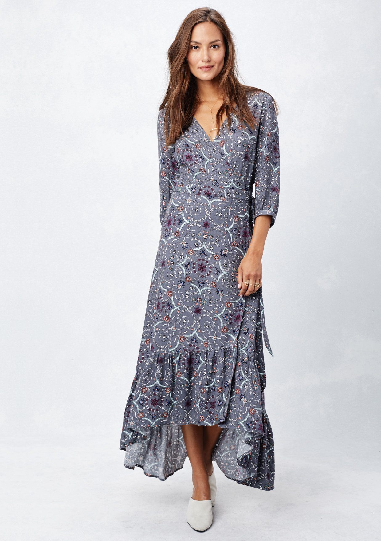 0409803d9f2c Elegant Boho Wrap Dress