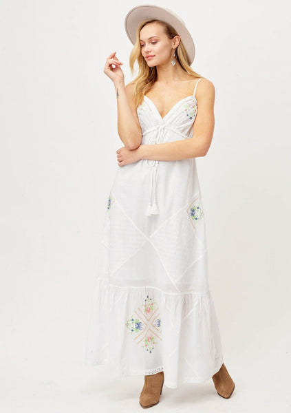 Boho Bride White Maxi Dress