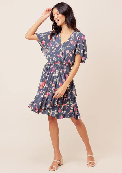 Nala Flutter Sleeve Mini Dress