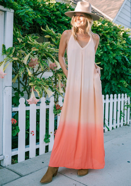 Save The Reefs Coral Maxi Dress