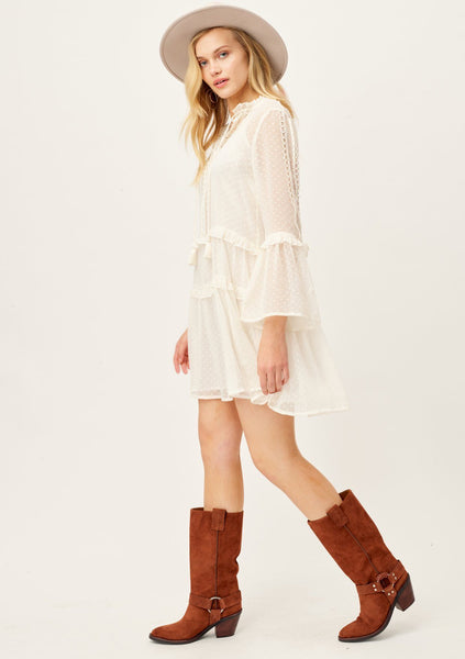 Daydreamer Sheer Bohemian Mini Dress