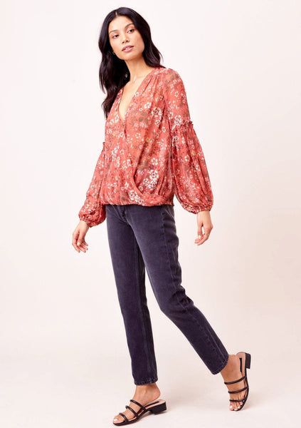 Robyn Sheer Surplice Top