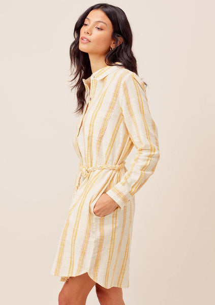 Justine Striped Shirt Dress