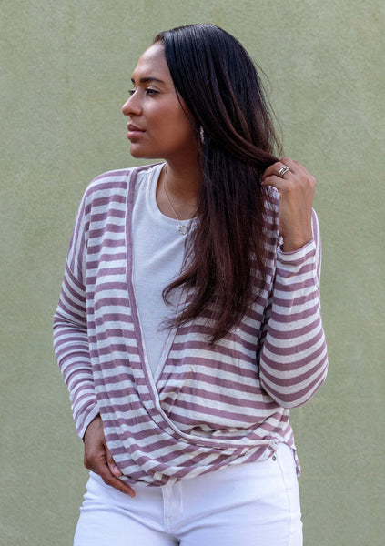 Sail Away Striped Surplice Tee