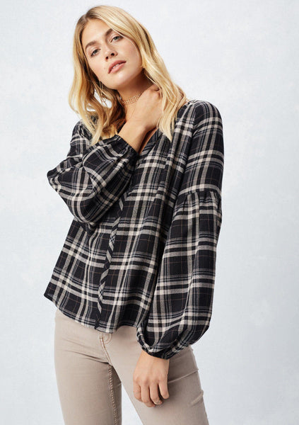 Josie Plaid Top