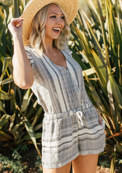 Maggie Striped Romper